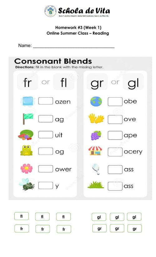 small resolution of Blend words interactive worksheet