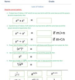 Laws of indices worksheet [ 1413 x 1000 Pixel ]