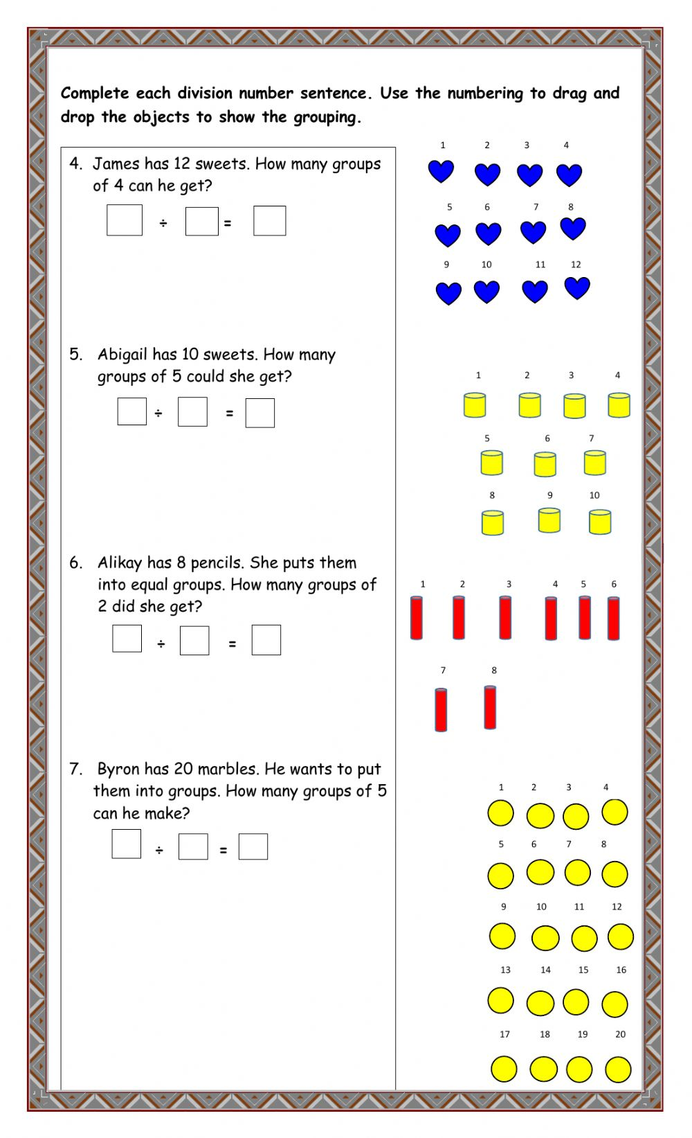 medium resolution of Division online exercise for Grade 3