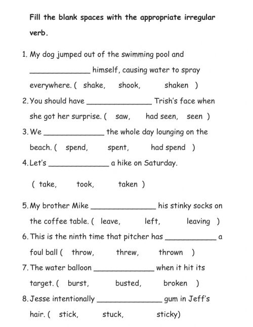 small resolution of Irregular Verbs online exercise for grade 2
