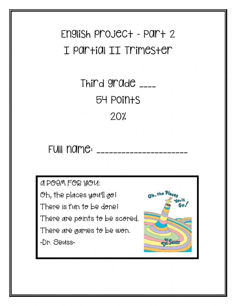 hight resolution of I Partial Project (II Trimester) - Part 2 worksheet