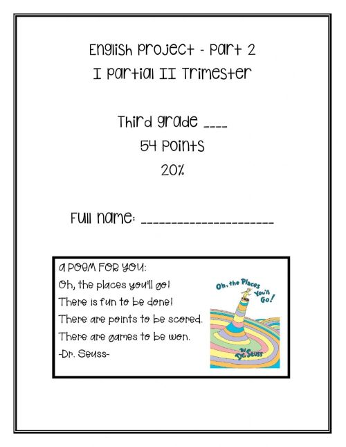 small resolution of I Partial Project (II Trimester) - Part 2 worksheet