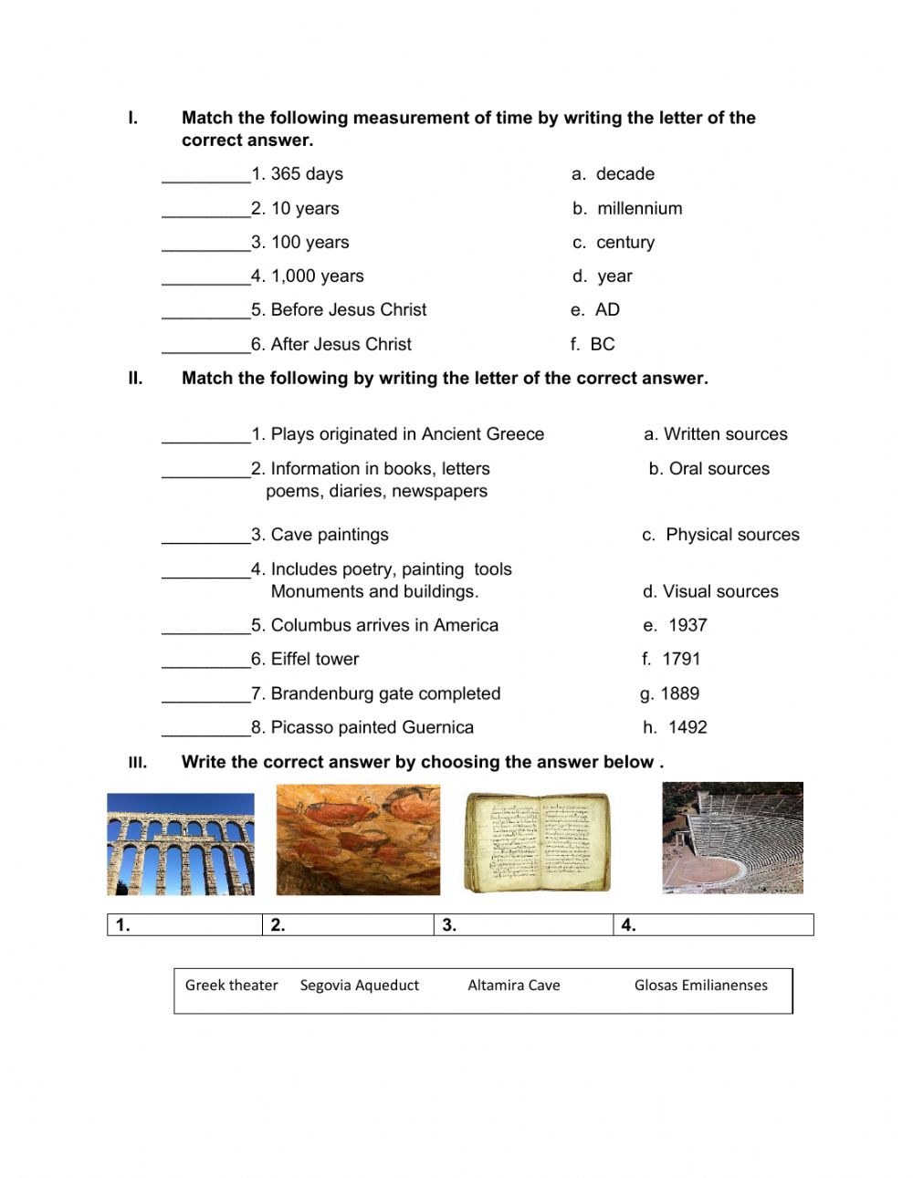 hight resolution of Unit 5: Can you write the year in Roman numerals? interactive worksheet