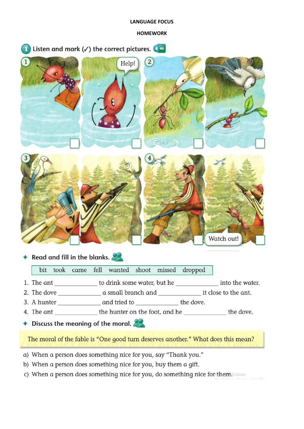 hight resolution of 4th Fables worksheet