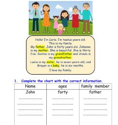 My family online exercise for 3rd grade [ 1414 x 1000 Pixel ]