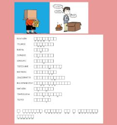 ANAGRAM : Think outside the box worksheet [ 1414 x 1000 Pixel ]