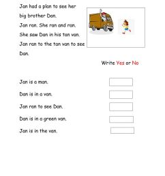 Reading Comprehension online exercise for grade 1 [ 1291 x 1000 Pixel ]