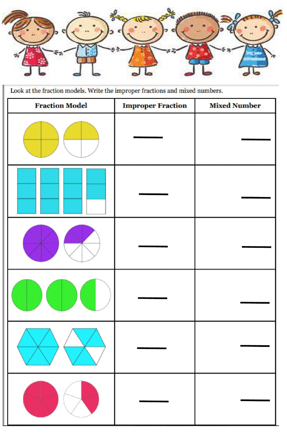 medium resolution of Fractions interactive exercise for Grade 3