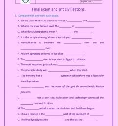 Final exam ancient civilizations worksheet [ 1291 x 1000 Pixel ]
