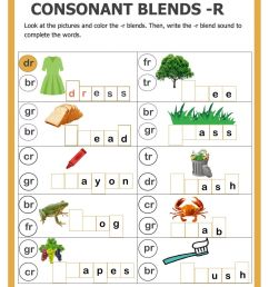 Consonant blends with -r interactive worksheet [ 1413 x 1000 Pixel ]