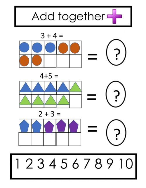 small resolution of Ten frame addition worksheet