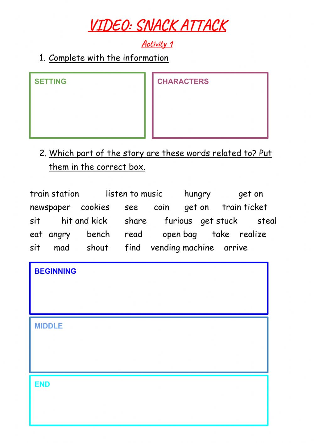 hight resolution of Snack Attack online worksheet