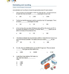 Estimating and Rounding Word Problem worksheet [ 1291 x 1000 Pixel ]