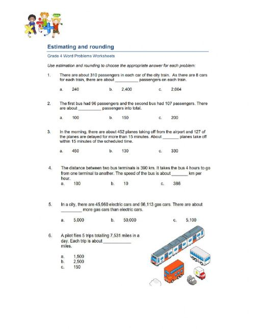 small resolution of Estimating and Rounding Word Problem worksheet