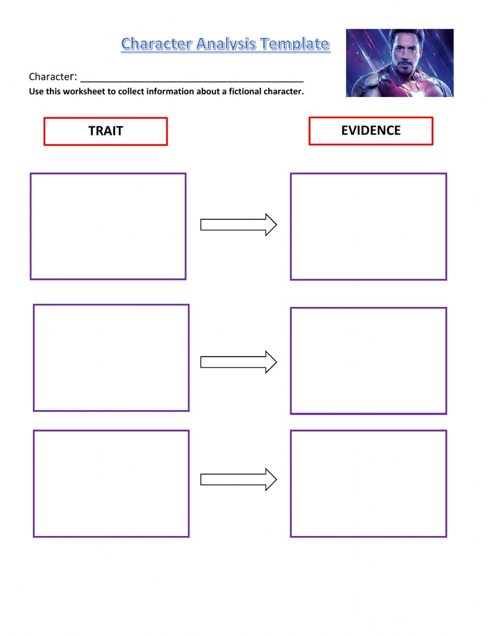 hight resolution of Character Analysis Template worksheet