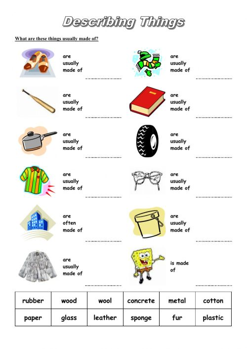 small resolution of Describing Objects interactive worksheet