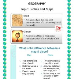 Maps And Globes worksheet [ 1291 x 1000 Pixel ]