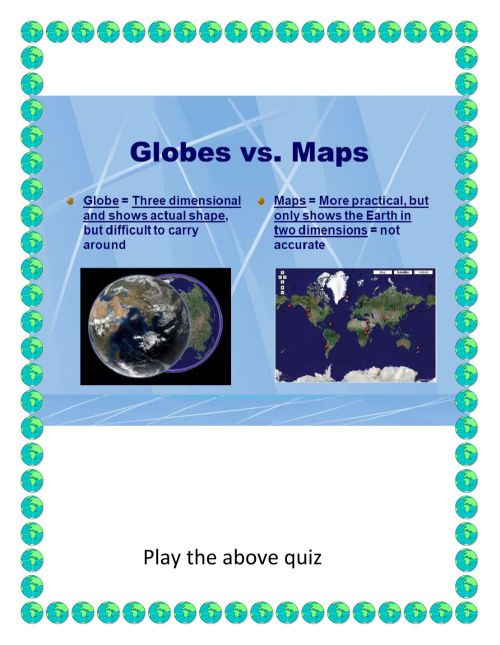 small resolution of Maps And Globes worksheet