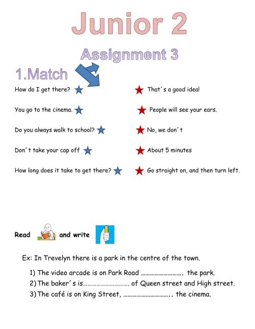 small resolution of Junior 1 assignment interactive worksheet