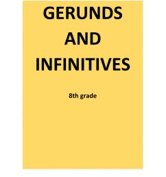 Gerunds and infinitives interactive worksheet for 8th grade [ 1291 x 1000 Pixel ]