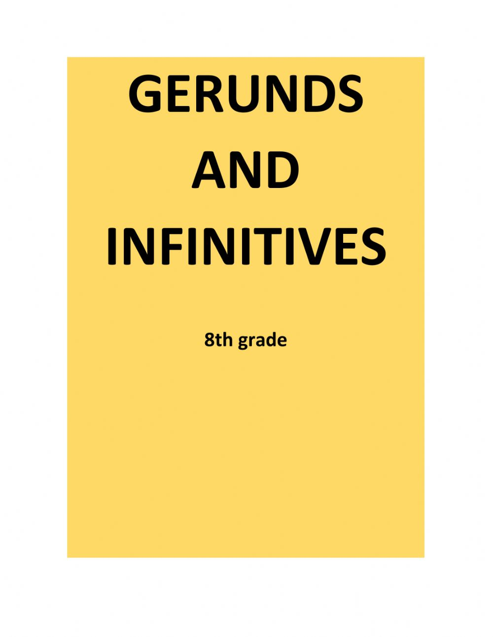 hight resolution of Gerunds and infinitives interactive worksheet for 8th grade