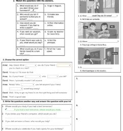 Second Conditional Wh-Questions worksheet [ 1291 x 1000 Pixel ]