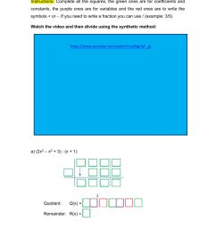 Synthetic division with polynomials worksheet [ 1413 x 1000 Pixel ]