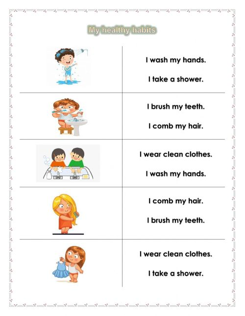 small resolution of Personal Hygiene online worksheet