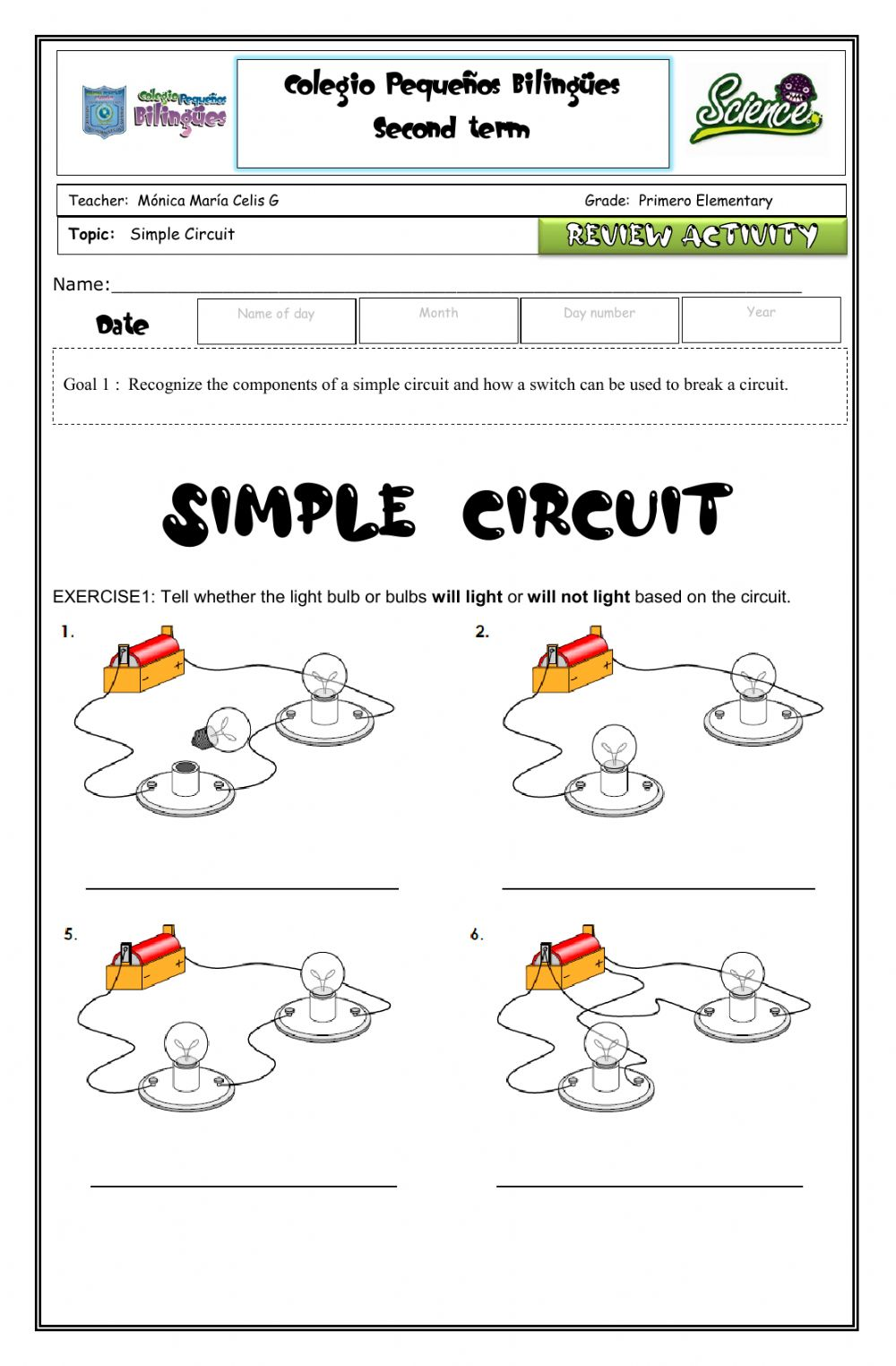 medium resolution of Review circuits-vocabulary-simple circuits worksheet