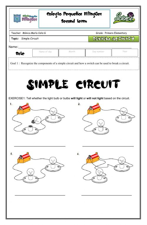 small resolution of Review circuits-vocabulary-simple circuits worksheet