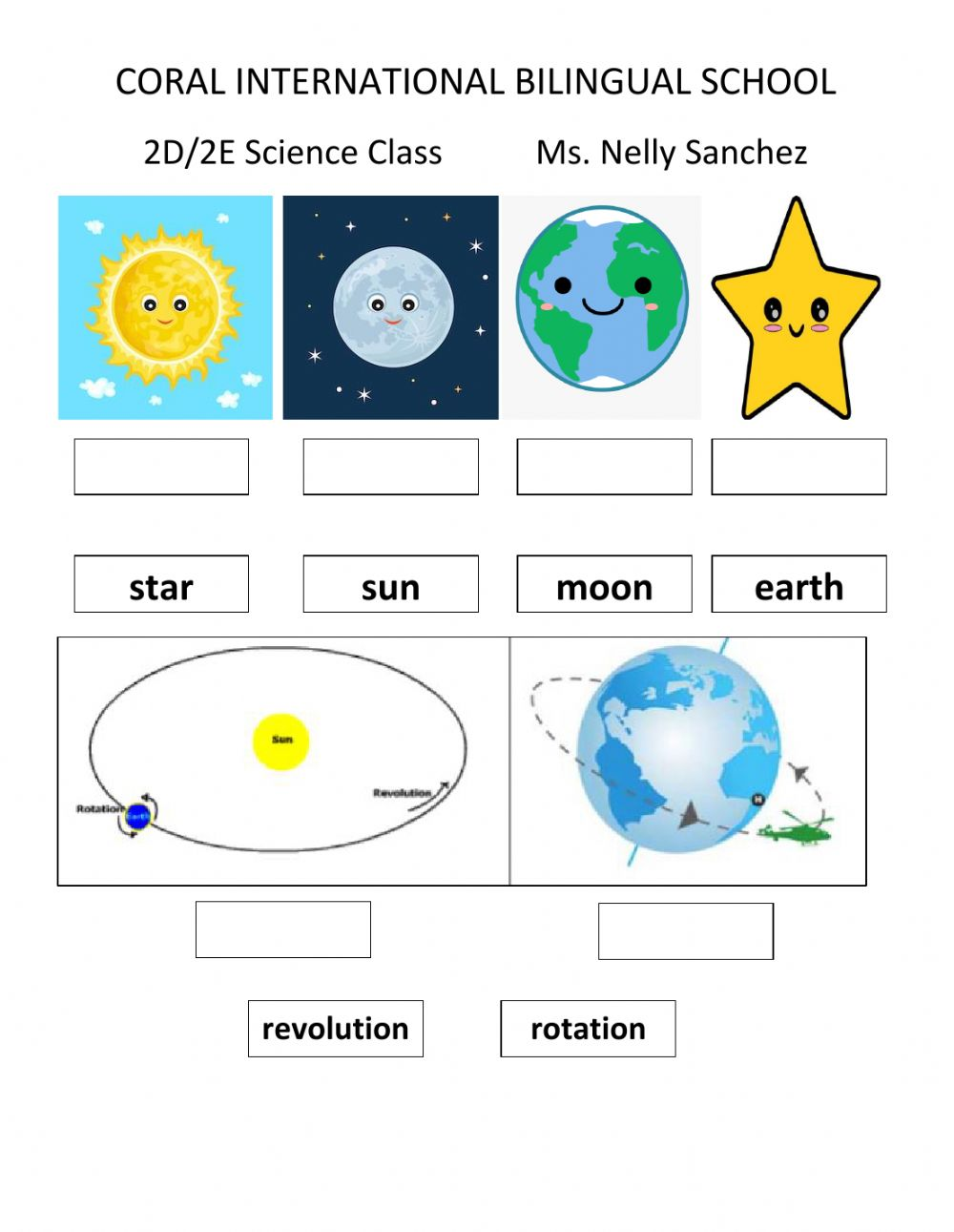 hight resolution of Science Second Grade worksheet