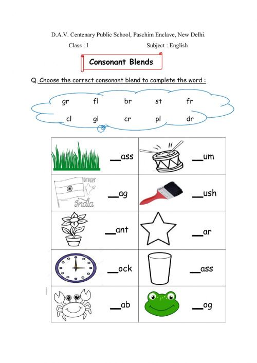 small resolution of Blends interactive worksheet