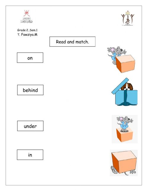 small resolution of Preposition online activity for grade 2