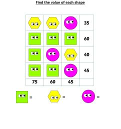 Math puzzle for grade 2 worksheet [ 1291 x 1000 Pixel ]