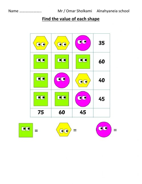 small resolution of Math puzzle for grade 2 worksheet