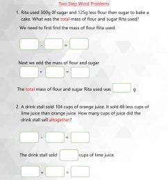 Two step word problems worksheet [ 1413 x 1000 Pixel ]