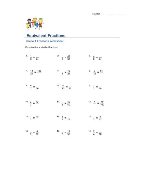 small resolution of Equivalent Fractions interactive activity