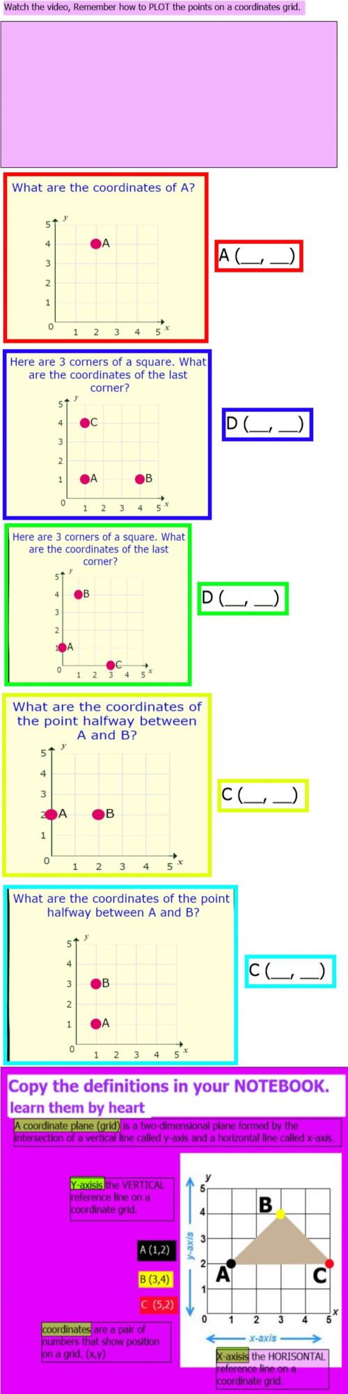 small resolution of Coordinates grid worksheet