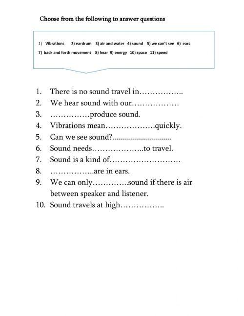 small resolution of Sound and vibrations interactive worksheet
