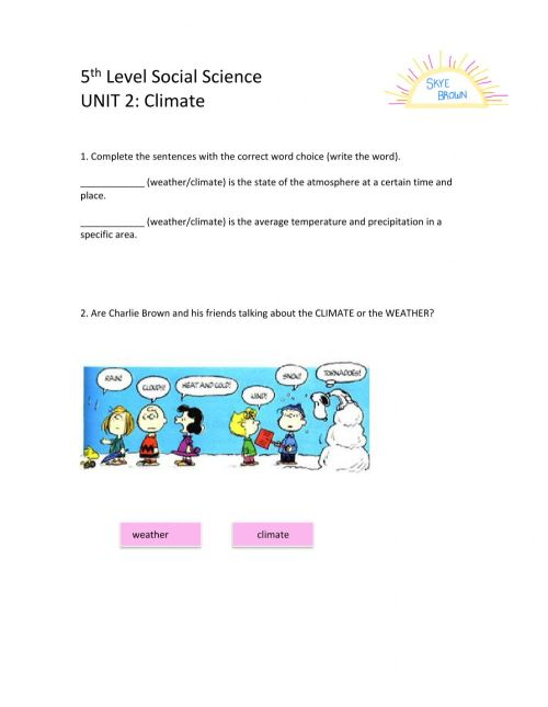small resolution of 5th Level Social Science Unit 2 worksheet