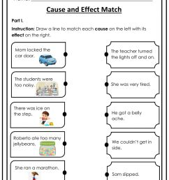 Cause and Effect Match interactive worksheet [ 1291 x 1000 Pixel ]