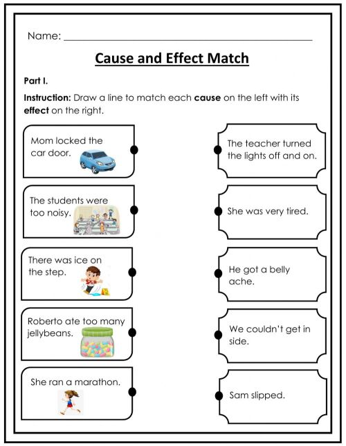 small resolution of Cause and Effect Match interactive worksheet