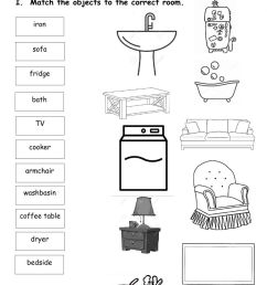 House and Prepositions interactive worksheet [ 1643 x 1000 Pixel ]