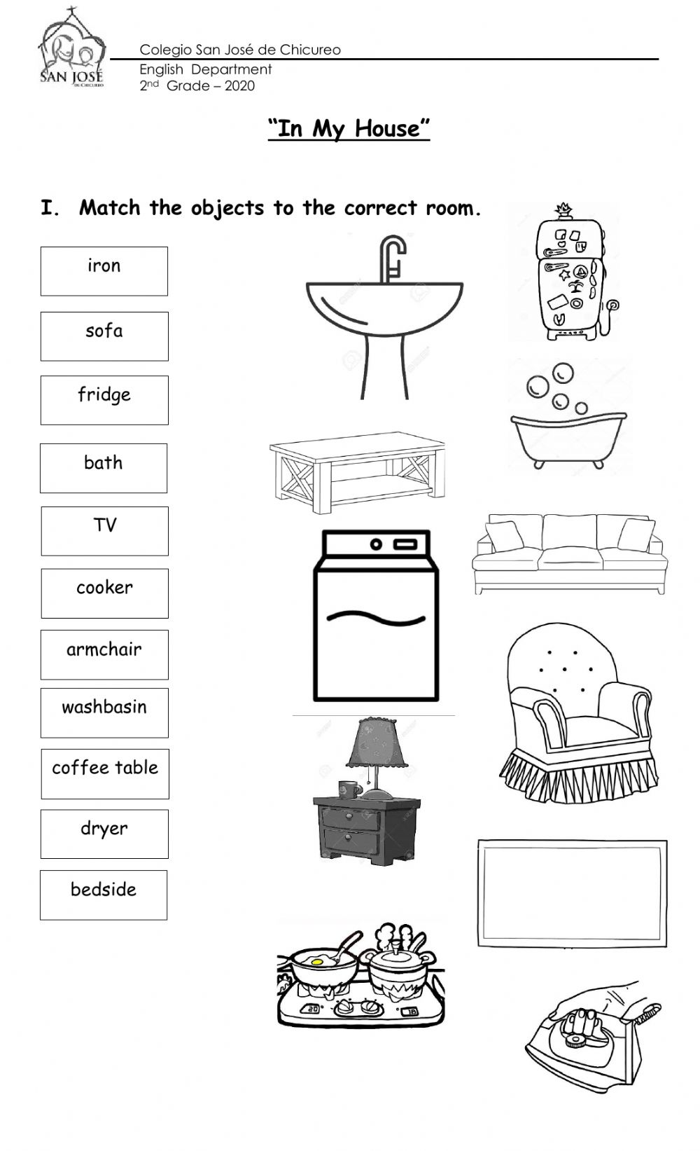 hight resolution of House and Prepositions interactive worksheet