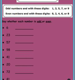 Odd and Even Numbers worksheet [ 1294 x 1000 Pixel ]