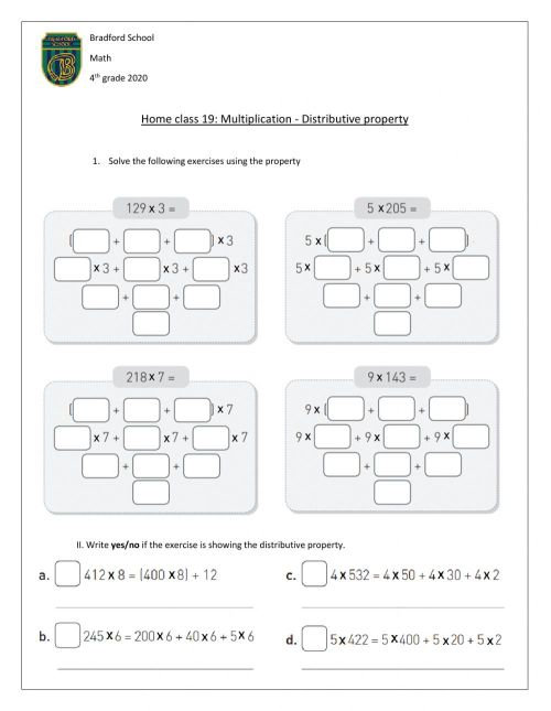 small resolution of Distributive property interactive worksheet
