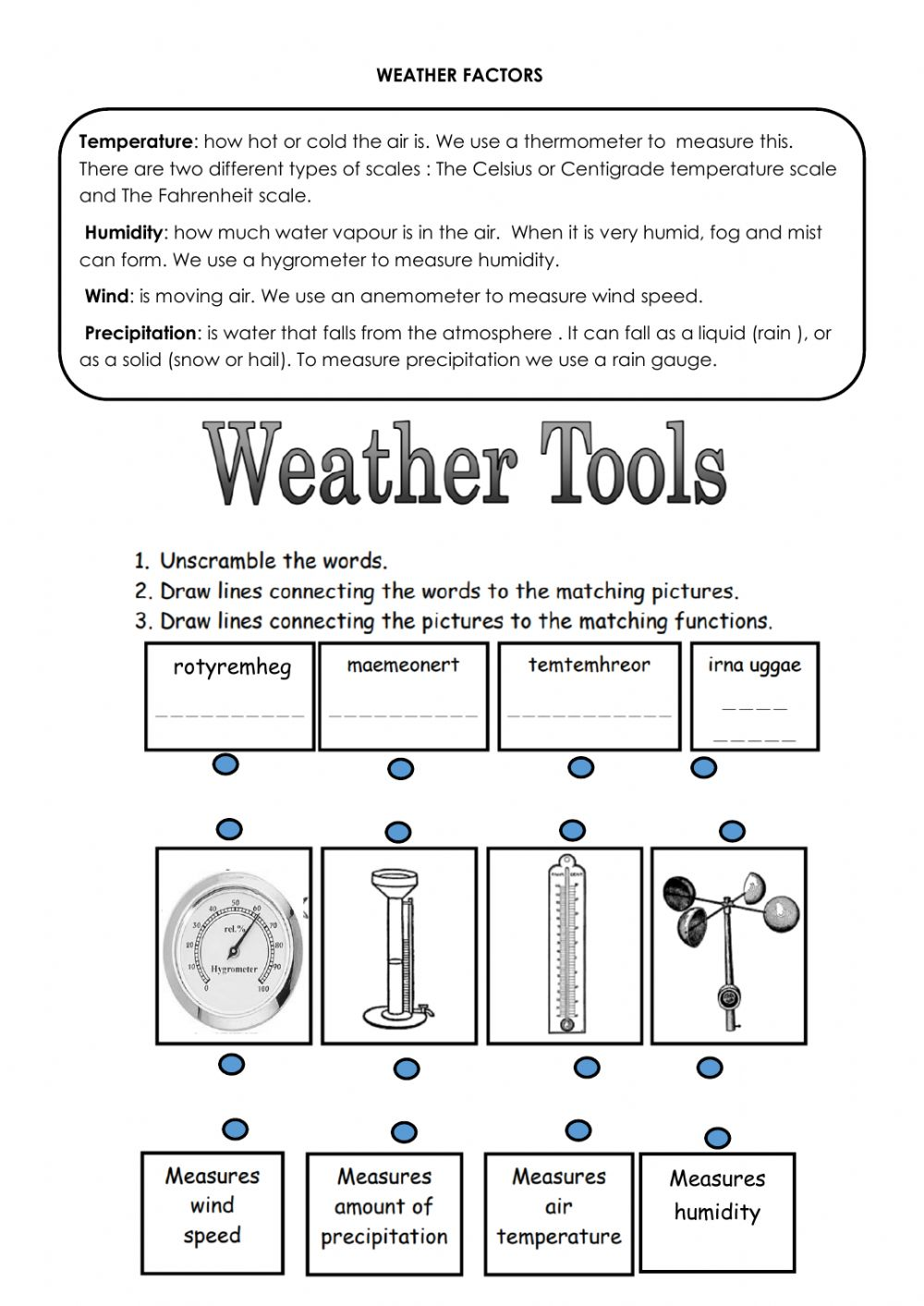 hight resolution of Weather tools worksheet