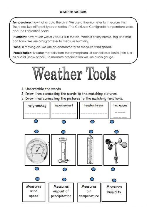 small resolution of Weather tools worksheet