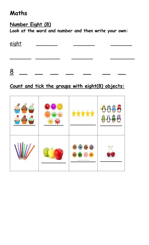 small resolution of Number 8 online activity for grade 1 and 2