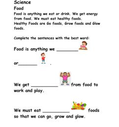 Food online exercise for Grade 1 -2 [ 1291 x 1000 Pixel ]